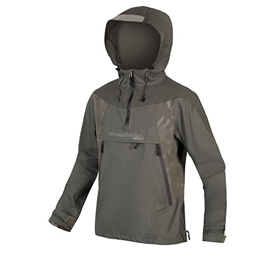 Mens Danny Way (Endura MT500 Waterproof Cycling Jacket Pullover Khaki, Large)