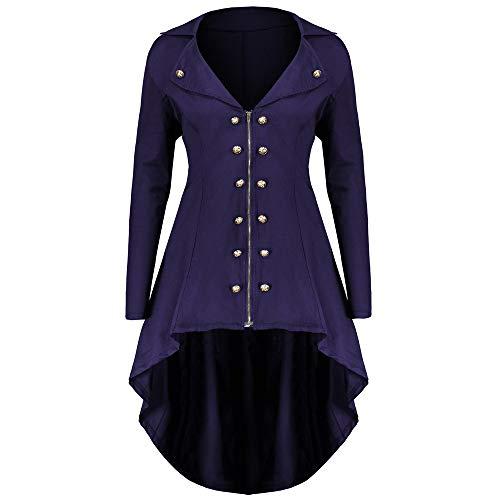 MILIMIEYIK Women Vintage Jacket Steampunk Gothic Coat Hooded Oversized Overcoat Autumn Winter]()