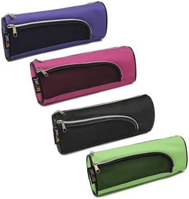 Estuche textil 2 cremalleras en 4 colores. Medidas: 22,5 x 8,5 x 8,5 cm. 323091: Amazon.es: Oficina y papelería