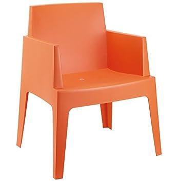 alterego chaise design plemo orange en matire plastique - Chaise Design Plastique