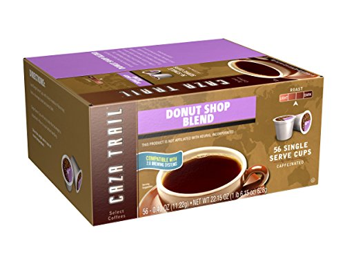 Caza Trail Coffee, Donut Shop Blend, 56 Single Serve Cups