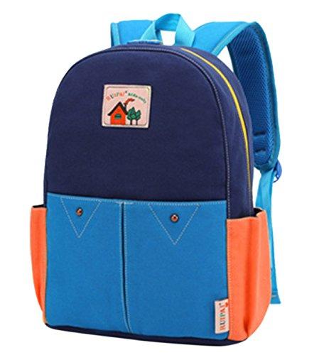 Happy Cherry Schulrucksack Schulranzen Schultasche Sports Rucksack Freizeitrucksack Daypacks Backpack für Mädchen Jungen Kinder Damen Herren Jugendliche-Khaki Blau yoVhy5