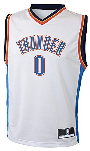 Outerstuff Russell Westbrook Oklahoma City Thunder  0 NBA Youth Home Jersey  White 14632bca8