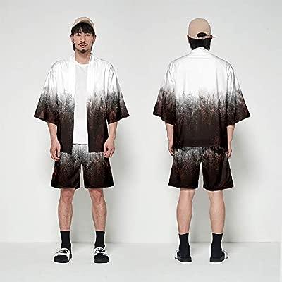 Hombre Camisa Cardigan Kimono Hippie Cloak Playa Chaqueta Estilo ...