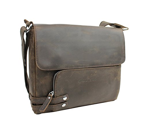 Vagabond Traveler 13'' Leather Messenger Shoulder Bag L19. Vintage Distress by Vagabond Traveler
