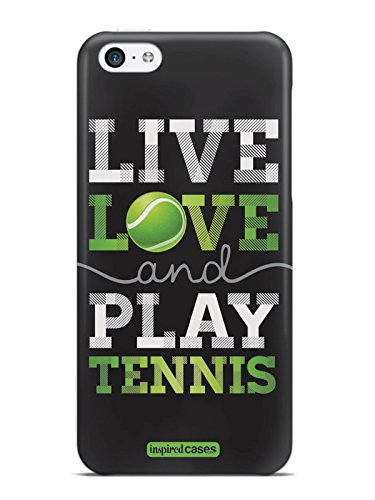 Inspired Cases 3D Textured Live Love Play Tennis Case for iPhone 5c (Tennis Cases For Iphone 5c)