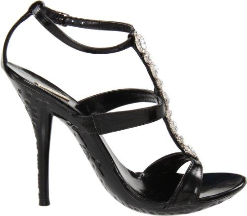 Sandalia Celeste Tao-11 T-strap Para Mujer Negro