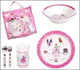 Baby Cie Childrens Melamine Dinnerware Lunch Set - Princess
