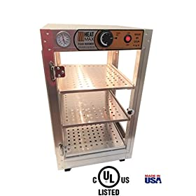 Commercial Food Pizza Pastry Warmer Countertop 14x14x24 Display Case by HeatMax