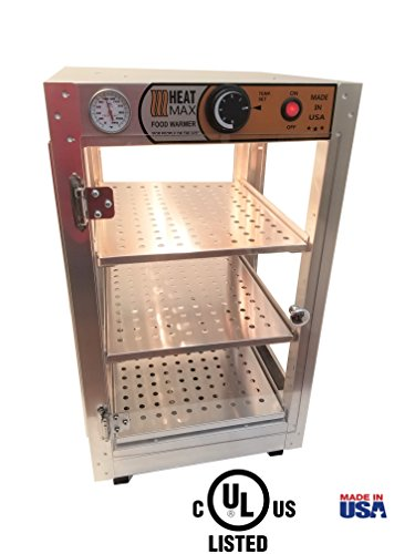 Commercial Food Pizza Pastry Warmer Countertop 14x14x24 Display Case by HeatMax ()