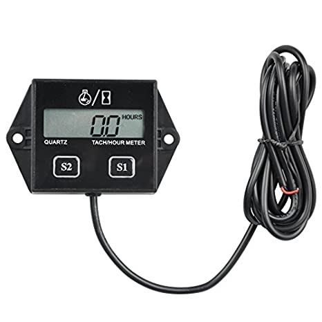 Runleader RL-HM026A Inductive tachometer with hour meter for all gasoline engine ATV UTV dirtbike motobike motocycle outboards snowmobile pitbike PWC marine boat waterproof