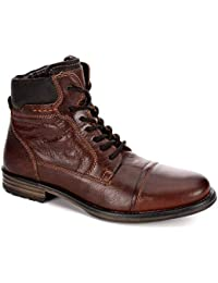 Mens Warm Lined Leather Lace Up Boot Shoes