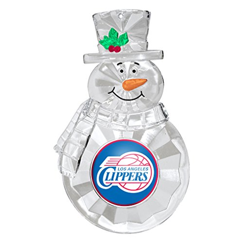 [NBA Los Angeles Clippers Traditional Snowman Ornament] (Los Angeles Clippers Acrylic)