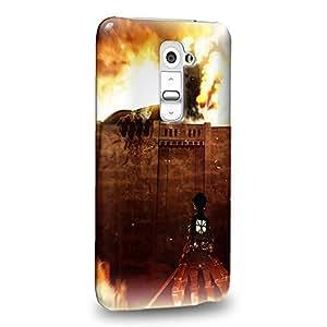 Case88 Premium Designs Attack on Titans Carcasa/Funda dura para el LG G2
