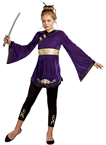 SugarSugar Girls Lotus Warrior Costume, One Color, Large, One Color, Large (Warrior Girl Costume)