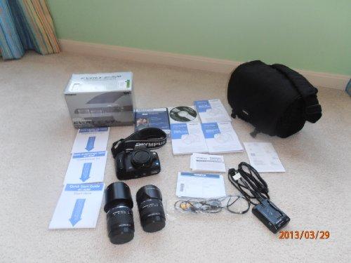 Olympus Evolt E520 10MP Digital SLR Camera with 14-42mm f/3.5-5.6 and 40-150mm f/4.0-5.6 ED Zuiko Lenses 10 Mp Digital Slr Camera