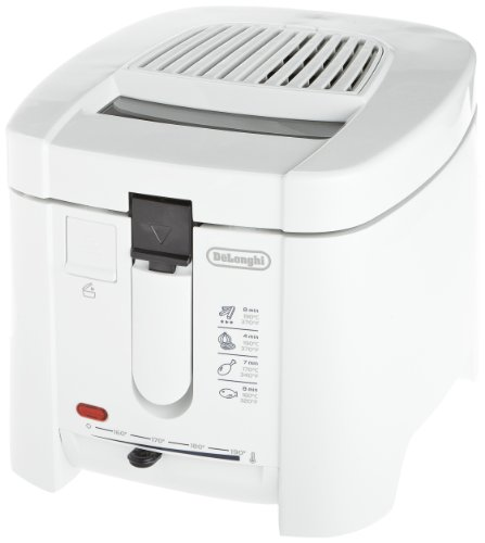 Delonghi F13205 Electric Deep Fryer, 1200-watt, 220-volt, White