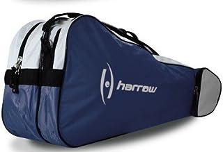 Harrow 3 Racquet Bag (Navy/White) by Harrow