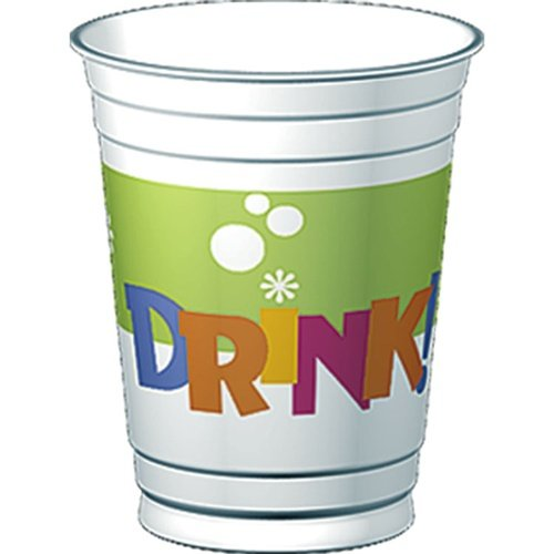 Eat, Drink and Party 14 oz. Plastic Cups  Party Accessory