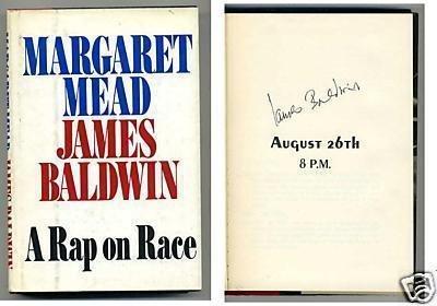 Race Card Autographed (James Baldwin A Rap On Race Signed Autograph Book - Autographed MLB Magazines)
