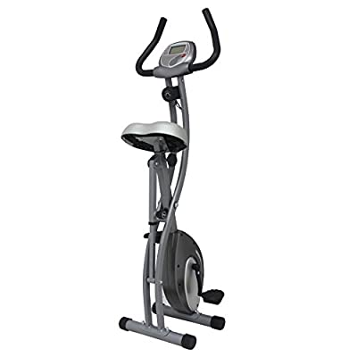 Folding Upright Exercise Bike with Magnetic Tension by Sunny Health & Fitness – SF-B1411