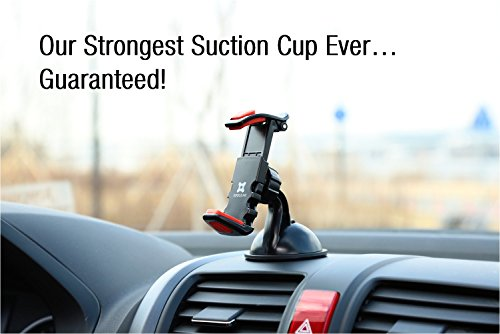Exogear ExoMount Ultra Car Mount Car Holder with The Worlds Strongest Patented Suction Cup Technology for ALL iPhones and ALL iPhones and ALL Samsung Galaxy Phones (Includes all other smartphones and cell phones from 3.5 to 6.2) inch screens