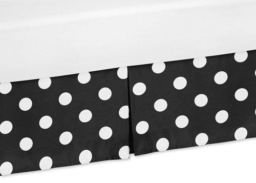 Sweet Jojo Designs Polka Dot Crib Bed Skirt Dust Ruffle for Hot Dot Collection Bedding (Polka Dot Crib Bumper)