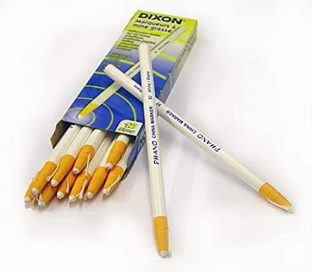 12-Pack 1 White Dixon 00092 China Markers
