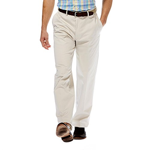 Haggar Mens Work to Weekend Flat Front Khaki, String, 32-28