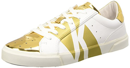 BIKKEMBERGS Damen Rubb-Er 670 L.Shoe W Leather/Shiny S.Leather Pumps Elfenbein (White/Gold)