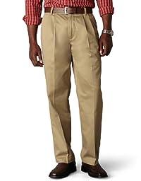 Dockers Men\'s Classic Fit Signature Khaki Pant - Pleated D3 , Dark Khaki, 34x34