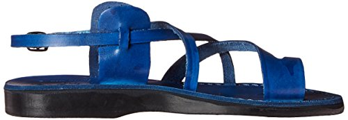 Jérusalem Sandales Mens Le Bon Shepard Boucle Toe-anneau Sandale Bleu