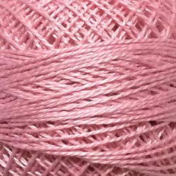 (Valdani Perle Cotton Size ~12~ Embroidery Thread, 109 Yard Ball -557 Wildrose Pink)