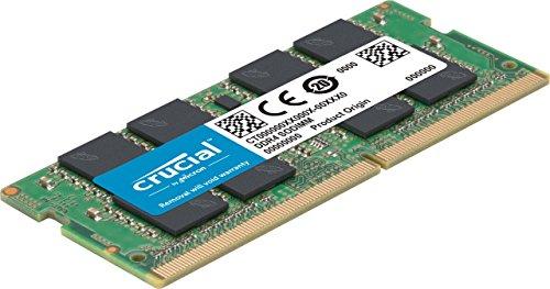 Crucial 16GB Single DDR4 2666 MT/s (PC4-21300) DR X8 SODIMM 260-Pin Memory - CT16G4SFD8266