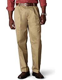 Men's Classic Fit Signature Khaki Pant-Pleated D3