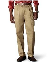 Dockers Pantalón plisado de ajuste clásico estirable Signature Caqui–D3