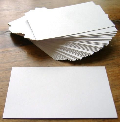 100 X White Blank Business Cards - 250gsm Card - UK Card Crafts ...