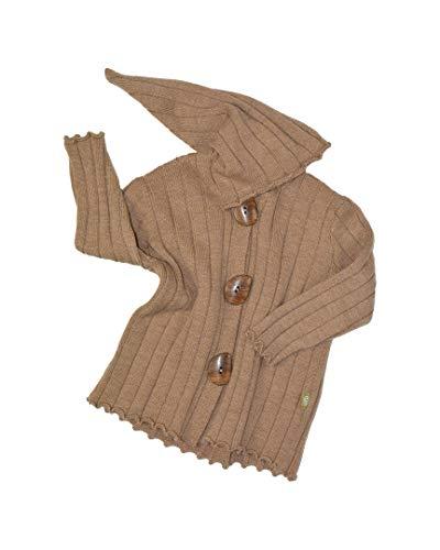 Nui Organics Boys Hooded Wool Jacket, 12-18M