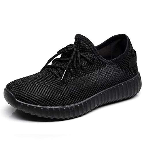 ANJUNIE Women's Ladies Girls Solid Mesh Light Sport Run Shoe Sneakers Casual Shoes Footwear