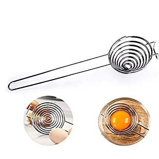 Egg Separator Food Grade Stainless Steel Egg Yolk White Separator Filter Kitchen Gadget Baking Tool