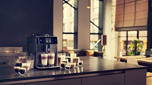 Saeco Xelsis SM7684/04 Super Automatic Espresso Machine, Titanium Metal Front