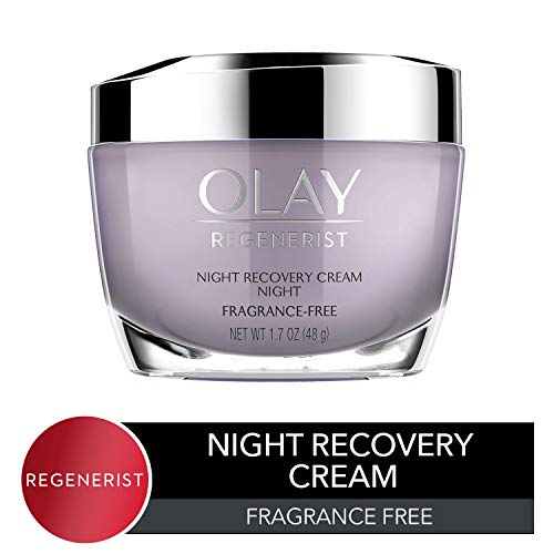 Night Cream by Olay Regenerist Night Recovery Anti-Aging Face Moisturizer 1.7 oz, 2 Month Supply (Best Over The Counter Retinol Treatment)