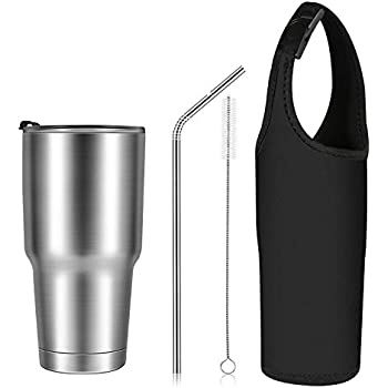 Stainless Steel Tumbler Double Wall Vacuum Insulated Rambler Large Water Bottle Coffee Cup Travel Mug for Ice Drink & Hot Beverage Flask for Home ...