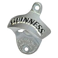 Abrebotellas de pared Guinness - Removedor de tapa de botella de metal para barra o cocina (negro)