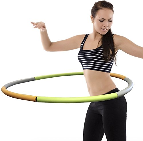 Weighted Hula Hoop - Adjustable Segment Weights - 2.5 - 3 Pounds - High Intensity Workouts - Burn Fat & Lose Weight - Designed for Dancing Workouts & Ultra Fitness (For Weighted Hula Adults Hoop)