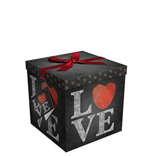 Gift Box 6x6x6 Amrita Love Pop up in Seconds comes with Decorative Ribbon mounted on the lid A Gift Tag and Tissue Paper  No Glue or Tape Required