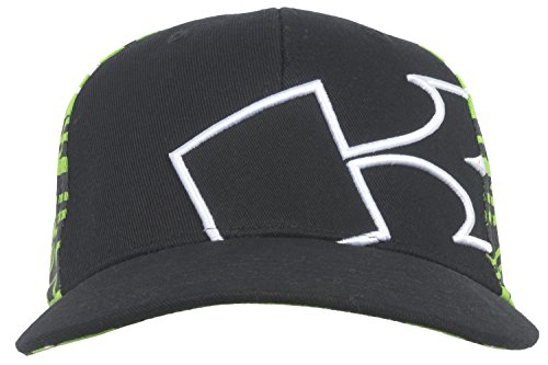 Kawasaki Flex Fit Mens Hat in Black (Flex Fit Embroidered Visor)