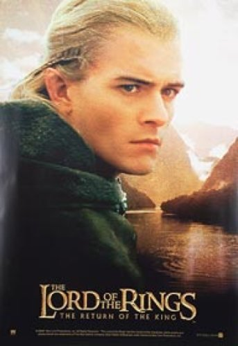 Lord Of The Rings Single-Sided Reprint Legolas Lake 27X41 New Poster Silverscreen