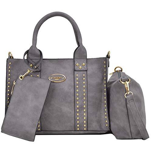- Women Vegan Leather Handbags Fashion Satchel Bags Shoulder Purses Top Handle Work Bags