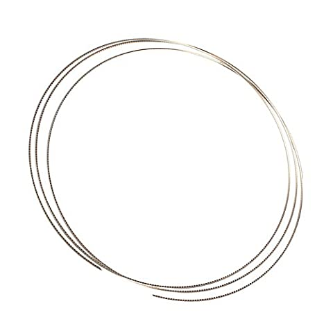 Yibuy 2.9mm Chrome Cupronickel 8 Feet Fretwire for Bass Guitar - Bass Fret Wire